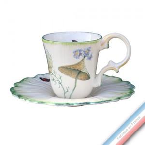Collection FOLIES BOTANIQUES - Tasse et soucoupe thé - 0,15L / 12,5 cm -  Lot de 4