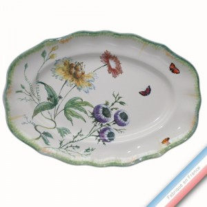 Collection FOLIES BOTANIQUES - Plat ovale 1 Louis XV - 42 X 29 cm -  Lot de 1
