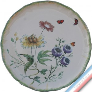 Collection FOLIES BOTANIQUES - Plat tarte - Diam  34 cm -  Lot de 1