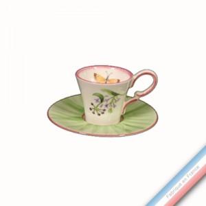 Collection VENT DE FLEURS - Tasse et soucoupe café - 0,05L / 13cm -  Lot de 4