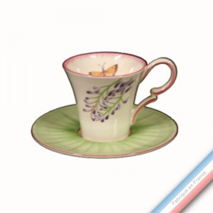 Collection VENT DE FLEURS - Tasse et soucoupe thé - 0,2 L / 15,5 cm -  Lot de 4