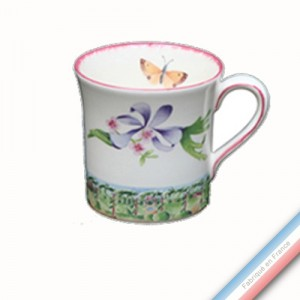 Collection VENT DE FLEURS - Mug - H 9,5 cm - 35 cl -  Lot de 4