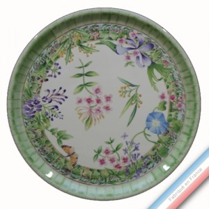 Collection VENT DE FLEURS - Plat tarte - Diam  32 cm -  Lot de 1
