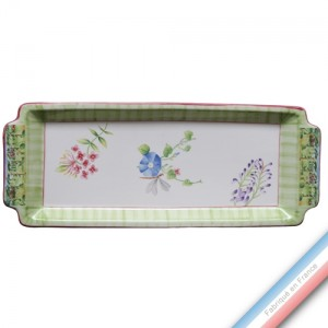 Collection VENT DE FLEURS - Plat cake - 38 x 15 cm -  Lot de 1