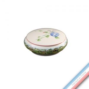 Collection VENT DE FLEURS - Bonbonnière ronde - Diam  13 cm -  Lot de 1