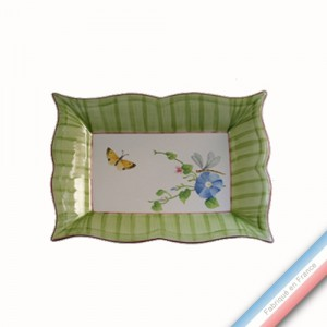 Collection VENT DE FLEURS - Vide poche rectangle - 21 x 17 cm -  Lot de 1