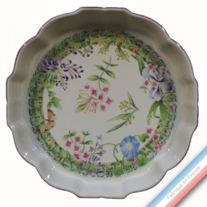 Collection VENT DE FLEURS - Moule à tarte - Diam  33 cm -  Lot de 1