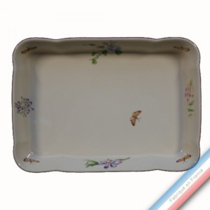 Collection VENT DE FLEURS - Plat rectangle a gratin - 35 x 25 cm -  Lot de 1
