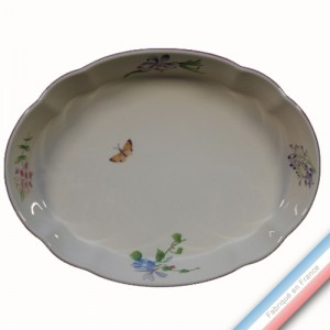 Collection VENT DE FLEURS - Plat ovale a gratin - 34,5 x 26 cm -  Lot de 1