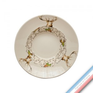 Collection CHAMBORD - Assiette creuse - Diam  22,5 cm -  Lot de 4