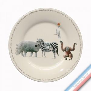 Collection POINT DE VUE ECLAIRE - Assiette plate - Diam  27 cm -  Lot de 4