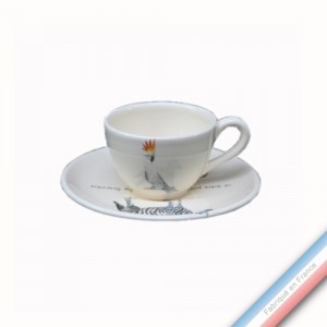 Collection POINT DE VUE ECLAIRE - Tasse et soucoupe café - 0,05L / 11,5cm -  Lot de 4