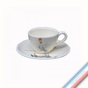 Collection POINT DE VUE ECLAIRE - Tasse et soucoupe café - 0,05L / 11,5cm -  Lot de 4