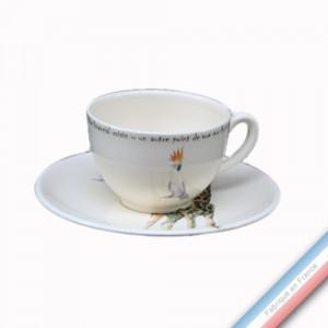 Collection POINT DE VUE ECLAIRE - Tasse et soucoupe thé - 0,20 L / 15,5 cm -  Lot de 4