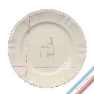 Collection SERVICE DE FAMILLE - Plat plat 3 - Diam  31.5 cm -  Lot de 1