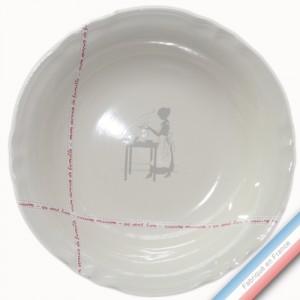 Collection SERVICE DE FAMILLE - Plat creux 'Grand' - Diam  32 cm -  Lot de 1