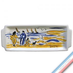 Collection BLEU SALE - Plat Cake Arbois - 38 x 17 cm -  Lot de 1