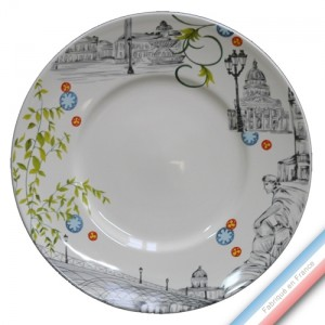 Collection PARIS - Assiette plate - Diam  27,5 cm -  Lot de 4