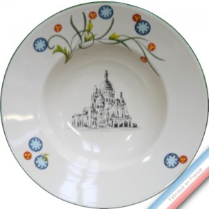 Collection PARIS - Assiette creuse - Diam  22,5 cm -  Lot de 4