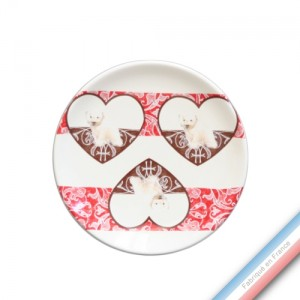Collection DENTELLES - Assiette pain - Diam  15.5 cm -  Lot de 4