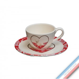 Collection DENTELLES - Tasse et soucoupe café - 0,05L / 11,5cm -  Lot de 4