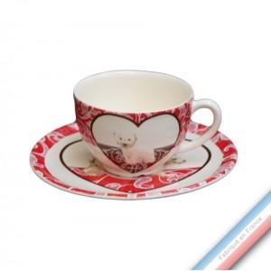 Collection DENTELLES - Tasse et soucoupe thé - 0,20 L / 15,5 cm -  Lot de 4