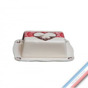 Collection DENTELLES - Beurrier rectangle - 19,5 x 14 cm -  Lot de 1