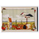 Magnet Hansi &#039;La Cigogne sur le toit&quot; (the stork on the roof)