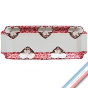 Collection DENTELLES - Plat cake - 38 x 15 cm -  Lot de 1