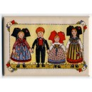 Magnet Hansi &quot;Frise 4 Enfants Alsaciens&quot; (frieze the 4 Alsatian kids)