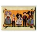 Magnet Hansi &quot;Frise 5 Enfants Alsaciens&quot; (frieze the 5 Alsatian kids)