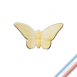 Collection IRRESISTIBLES - Petit Papillon Jaune citron - H 10 - L 12 cm -  Lot de 1