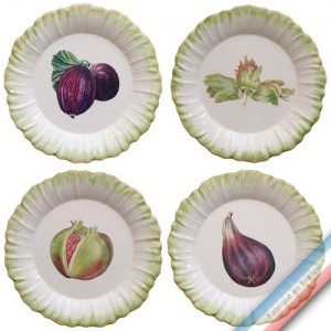 Collection ECLECTICA - Coffret 4 assiettes dessert fruits - 23 x 23 x 6 cm -  Lot de 1