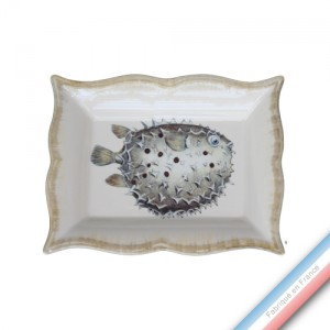 Collection ECLECTICA - Coffret vide poche rectangle Fugu - 21 x 17 x 3,6 cm -  Lot de 1