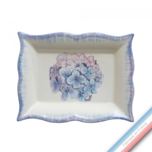 Collection ECLECTICA - Coffret vide poche rectangle Hortensia - 21 x 17 x 3,6 cm -  Lot de 1