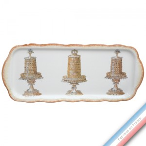 Collection ECLECTICA - Coffret plat cake gâteaux - 40 x 17 x 2,4 cm -  Lot de 1