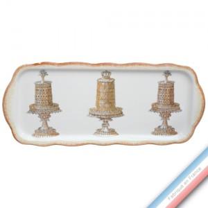 Collection ECLECTICA - Coffret plat cake gâteaux - 40 x 17 x 2,4 cm -  Lot de 1