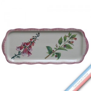 Collection ECLECTICA - Coffret plat cake fleurs poisons - 40 x 17 x 2,4 cm -  Lot de 1