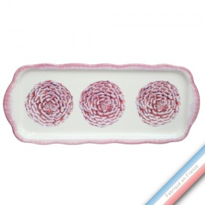 Collection ECLECTICA - Coffret plat cake Camelia - 40 x 17 x 2,4 cm -  Lot de 1