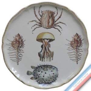 Collection ECLECTICA - Coffret plat tarte mers - 36 x 36 x 3 cm -  Lot de 1