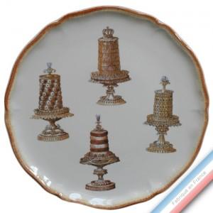 Collection ECLECTICA - Coffret plat tarte gâteaux - 36 x 36 x 3 cm -  Lot de 1