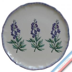 Collection ECLECTICA - Coffret plat tarte Aconite bleue - 36 x 36 x 3 cm -  Lot de 1