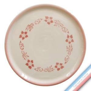 "Collection FERME ""1950"" - Plat tarte Pivoine - Diam  32 cm -  Lot de 1"