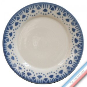"Collection FERME ""1950"" - Assiette dessert Bleu - Diam  21.5 cm -  Lot de 4"