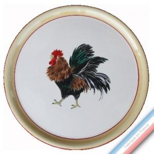 Collection COUR NORMANDE PAILLE - Plat tarte - Diam  32 cm -  Lot de 1