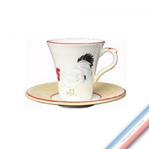 Collection COUR NORMANDE PAILLE - Tasse et soucoupe thé - 0,15L / 15 cm -  Lot de 4