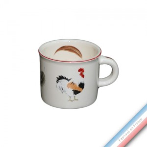 Collection COUR NORMANDE PAILLE - Mini mug - 0,21 L -  Lot de 4