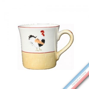 Collection COUR NORMANDE PAILLE - Mug cannes - 0,35 L -  Lot de 4