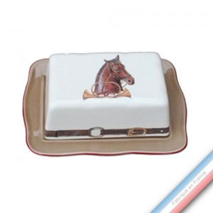 Collection CHANTILLY - Beurrier rectangle - 19,5 x 14 cm -  Lot de 1