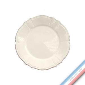 Collection MAINTENON PATINE VANILLE - Assiette dessert - Diam  23 cm -  Lot de 4